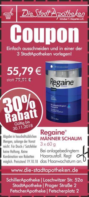 Rabatt Aktion Regaine Männer Schaum