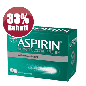 Aspirin Rabatt Aktion StadtApotheken Dresden