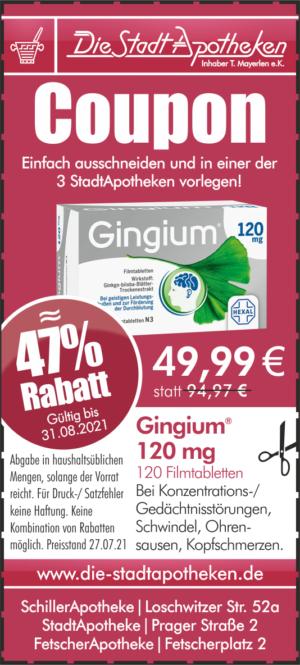 Rabatt Aktion Gingium